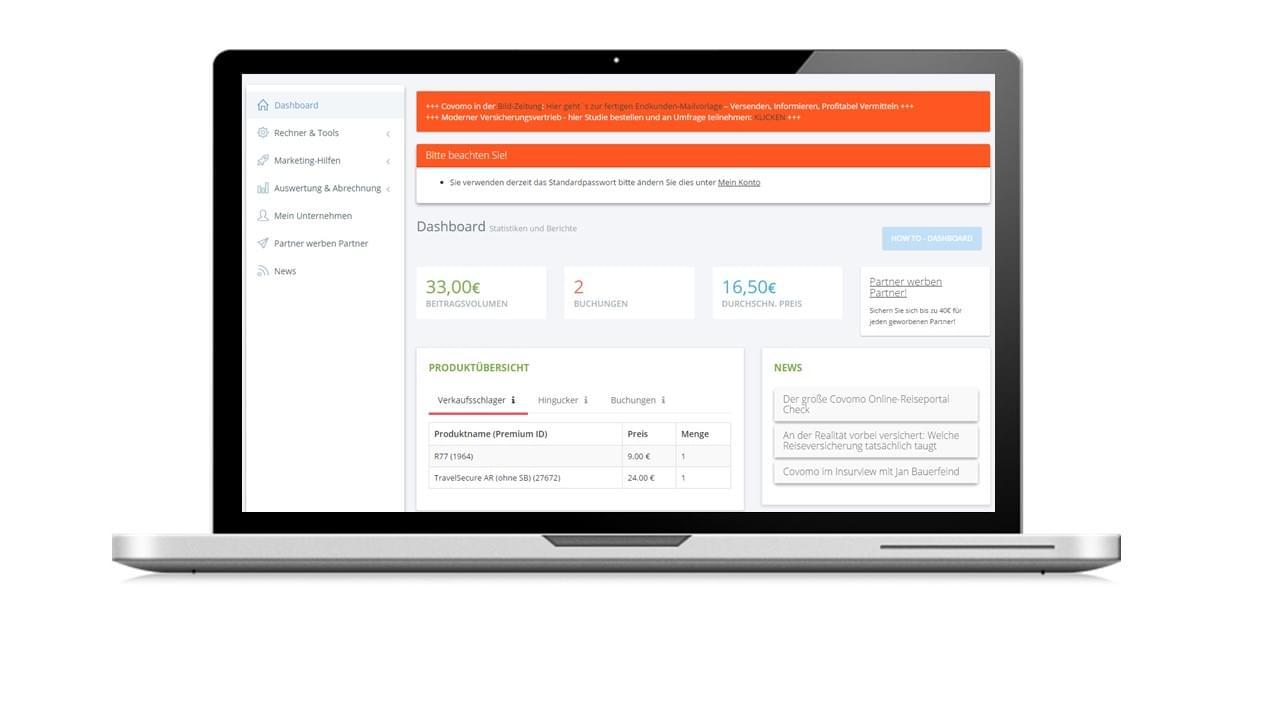 Covomo Portal Affiliate-Programm Zusatzversicherung